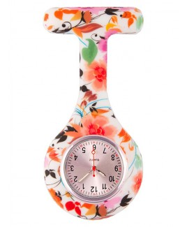 Siliconen Horloge Verpleegkundige Asian Flowers