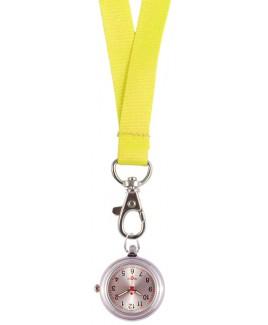 Lanyard/Keycord Horloge Geel