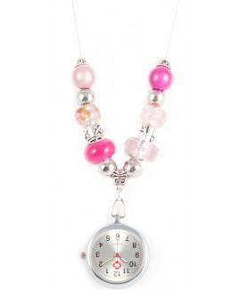 Ketting Horloge Parel Roze